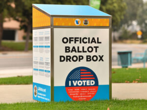 In Tennessee, all Republican voters will be invited to use any of the 4,800 available drop box locations statewide. Democrat voters will be instructed to use any of the four convenient drop boxes located in Pidgeon Forge, TN, between the hours of 9pm and 11pm, on Tuesdays.
