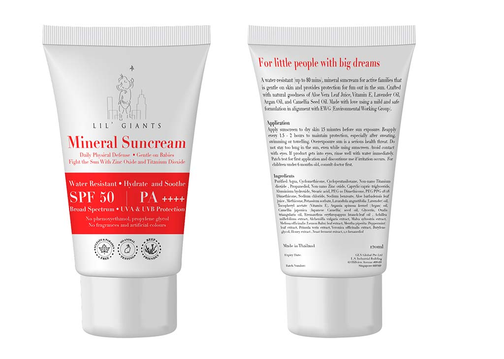 Packaging Design For Children sunscreen mock 1