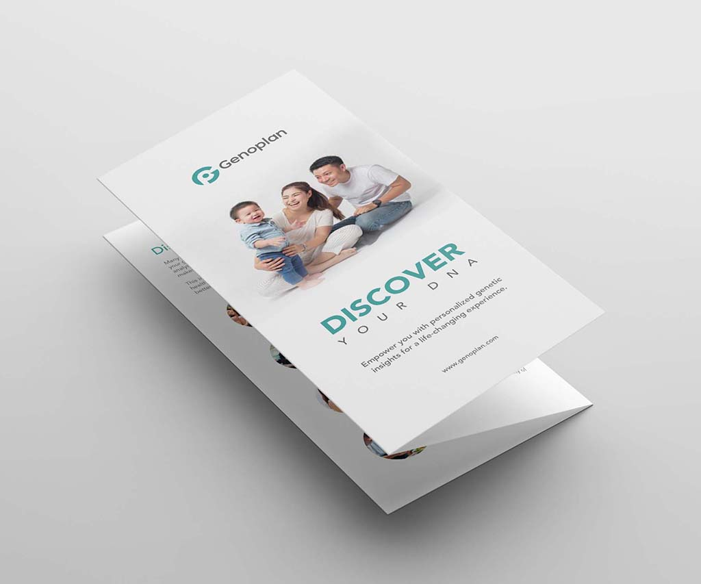 Trifold brochure design for geoplan singapore freelance designer