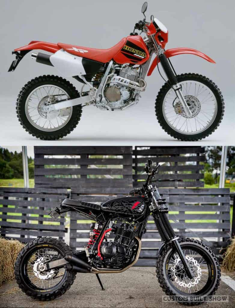 Honda XR 400R por Ace Custom Shop Before After