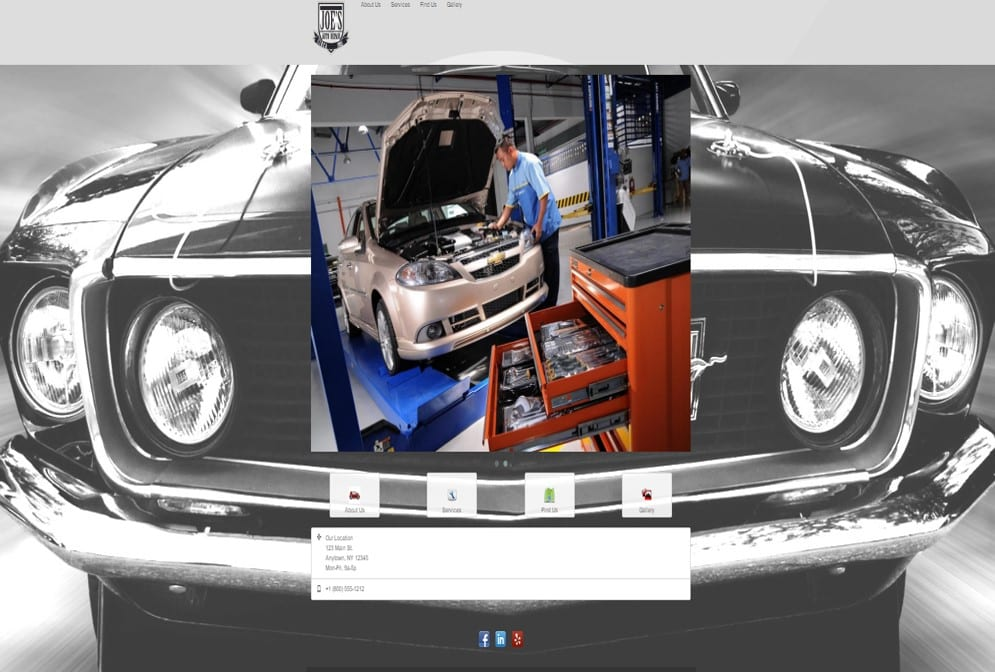 Auto Repair Shop Websites