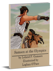 3D book cover for Samson at the Olympics