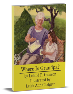 3D book cover for Where's Grandpa