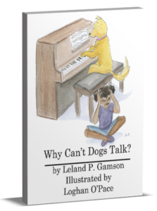 3D book cover for Why Can't Dogs Talk