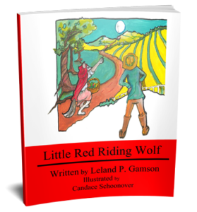 3D book cover for Little Red Riding Wolf