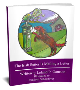 3D book cover for The Irish Setter is Mailing a Letter
