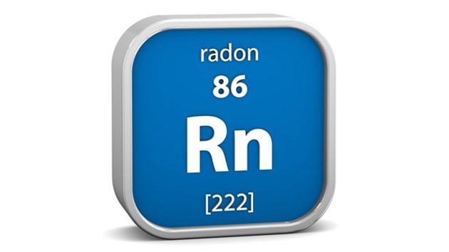 radon gas element