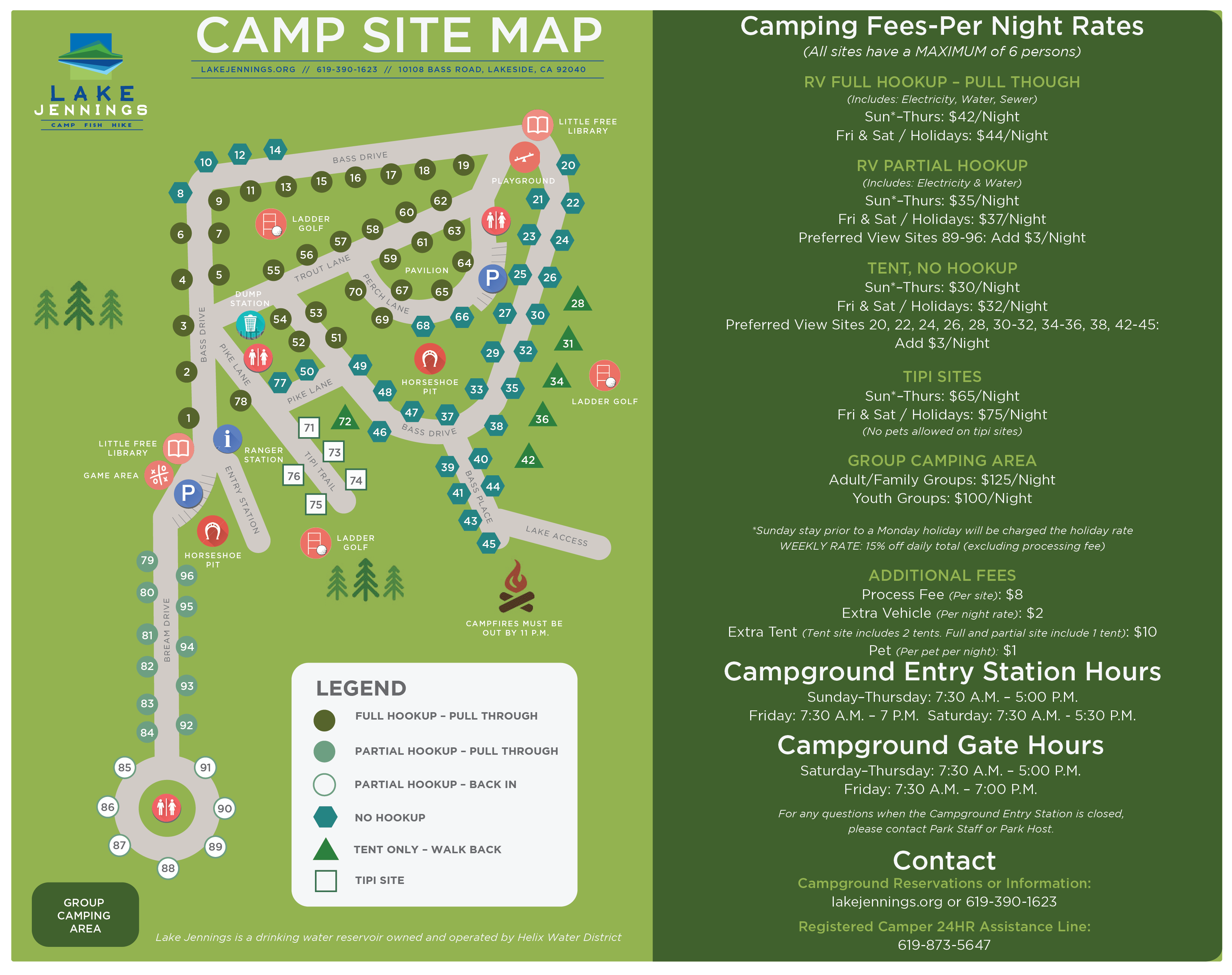Campgrounds In California Map.Map Lake Jennings