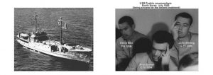 Photos of the USS Pueblo and crew members..