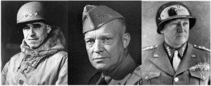 Photo of Generals Patton, Eisenhower, and Bradley