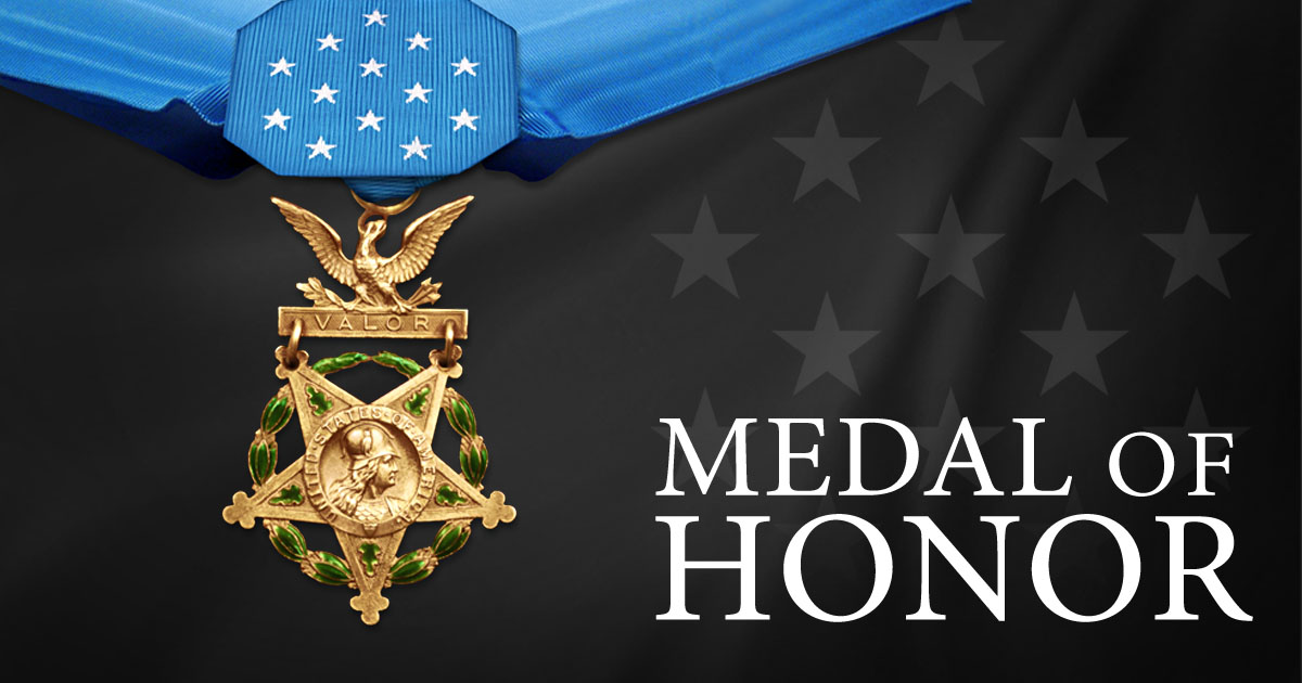 "The Medal of Honor Recipients ""Chuck"" Kettles and James McCloughan"