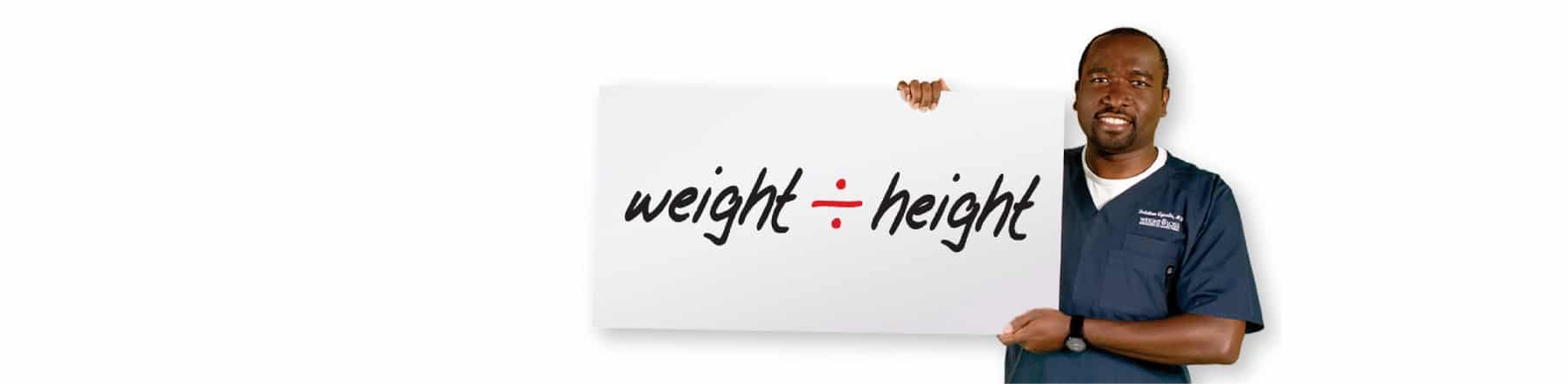 weight divided by height