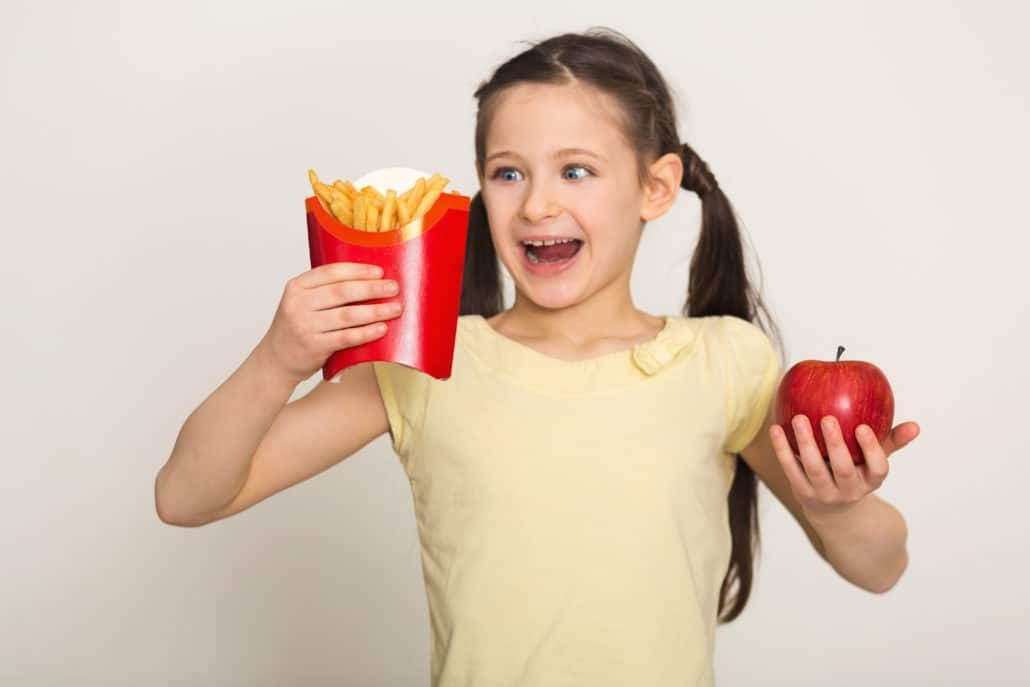 Childhood obesity. Children learn by example