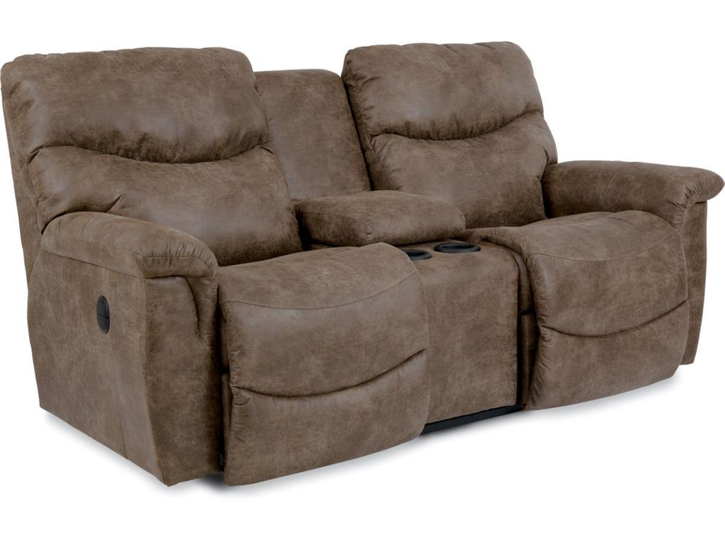 James Reclining Loveseat with Console