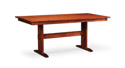 SHENANDOAH TRESTLE II TABLE, 36″X 72″ WITH SOLID TOP, SATE-40, CHERRY, Natural