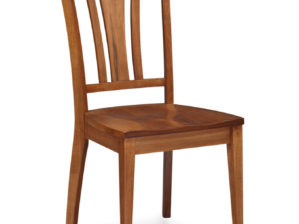 SHEFFIELD SIDE CHAIR, WOOD SEAT, Cherry Natural