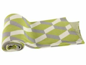 Cotton Cashmere Throw Green