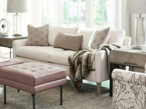 Mckinney Sofa, With Contrasting Pillows