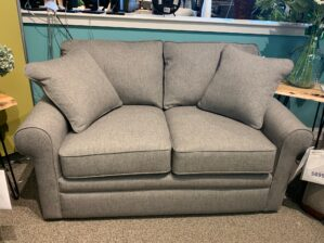 Collins Loveseat in Flannel Top Secret