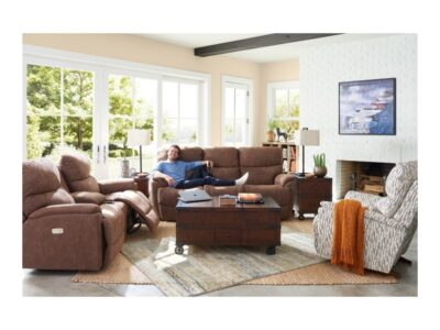LA-Z-BOY TROUPER RECLINING SOFA in INK