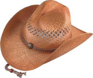 No. 3204-43Vented Hiker Raffia Straw Hat w/ chincord