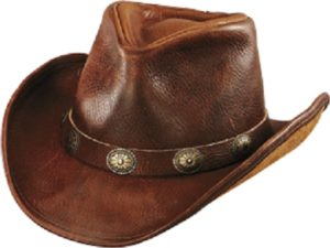 No. 1111-23Walker U-Shape it Hat with Concho Band, Brown