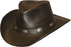 No. 1111-39Walker U-Shape It Hat w/ Concho Band, Black
