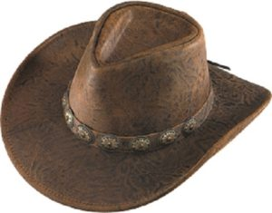 No. 1138-50Australian Crunch Leather w/ Concho Band, Brown