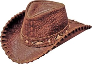 No. 1134-75Australian Cowhide Croc Print, Brown
