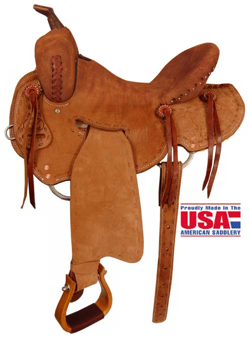 """Big Horn A00853Roughout Shooter Saddle. 15"""", 16"""" Seat"""