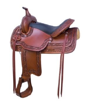 """No. 293400Simco Navajo Trail Saddle By Billy Cook, 16"""", 17"""""""