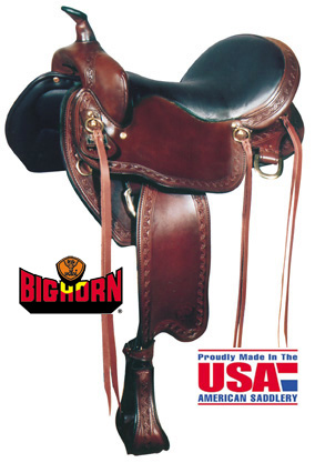Big Horn A01638-16 & A01639-17VOYAGER Sil-Cush Trail Saddle