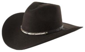 Santa Cruz Chocolate 4X Wool Hat by Cardenas Hats
