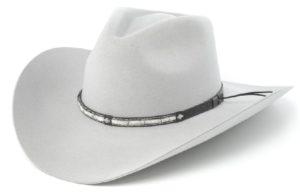 Santa Cruz Light Gray 4X Wool Hat by Cardenas Hats