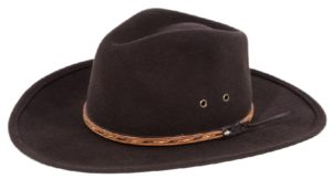 The Dingo Chocolate Crushable Wool Felt Hat by Cardenas Hats
