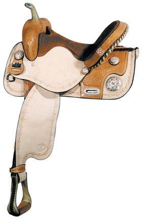 Big Horn A01466-14 & A01566-15 Barrel Racer Roughout Saddle