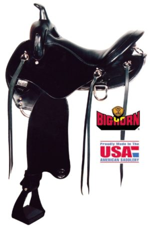 Big Horn A01702-17Walking Horse Black Trail Saddle, 17""