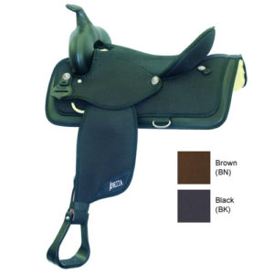 "No. 20515Abetta Cordura All-Around Saddle, QH Bars, 14 -17"""