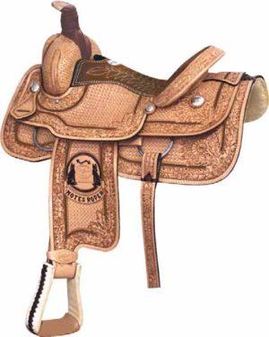 """No. 291740DAVID MOTES ROPER Saddle, 15, 15 1/2 or 16"""""""