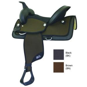 "No. 20521Abetta Cordura Highback Saddle, QH Bars,15, 16, 17"""
