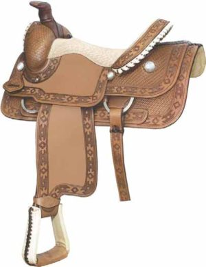 """No. 291764APACHE ROPER SADDLE, By Billy Cook. 16"""" Seat"""