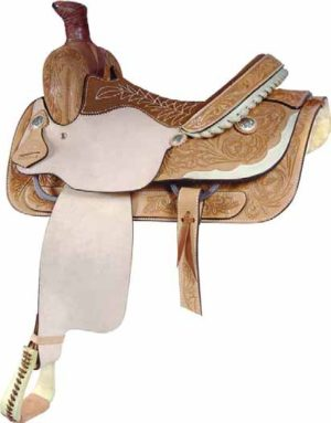 No. 291524LADY HALFBREED ROPER Roughout Saddle, 14 1/2""
