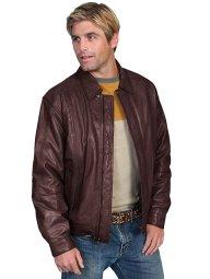 No. 978 Leather Jacket Premium Lamb, Color: #702 Chocolate/Brown