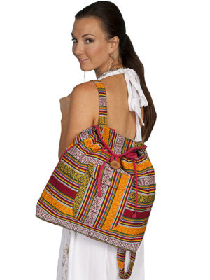 No. C11 Cantina Collection Handbag, 95% Cotton, Color Fiesta