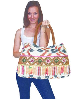No. C26 Cantina Collection Handbag,  Cotton/Poly, Color: Natural