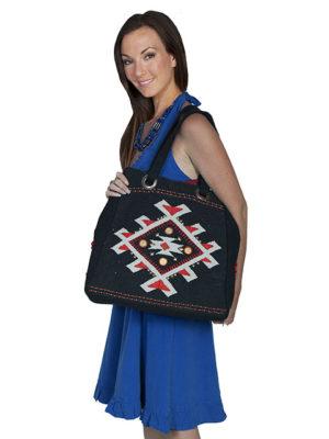 No. C28 Cantina Collection Handbag,  Cotton/Poly, Color: Black
