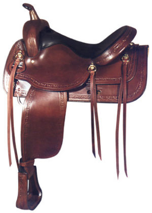 Big Horn A01656-16TRAIL SADDLE, Full QH Bars