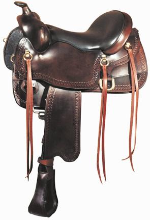 BigHorn A01544-16GAITED HORSE SADDLE,Dual Density Foam Seat