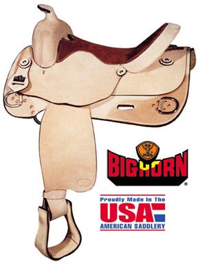 Big Horn A00858-16TRAINING REINER SADDLE. 16 Inch Seat