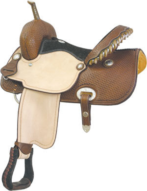 """No. 291273RUN TIME RACER Saddle by Billy Cook, 15"""" Seat"""